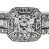 1.01 ct. Cushion Modified Cut Bridal Set Ring, H, SI2 #4