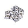 0.86 ct. Round Cut Bridal Set Ring, F, SI2 #3