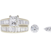 1.5 ct. Princess Cut Bridal Set Ring, H, SI2 #3