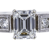 0.95 ct. Emerald Cut Solitaire Ring, E, VVS2 #4