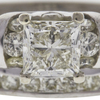 1.2 ct. Princess Cut Bridal Set Ring, M, VS1 #4