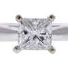 1.12 ct. Princess Cut Solitaire Ring, F-G, I1 #1