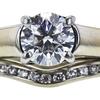 1.00 ct. Round Cut Bridal Set Ring, G, VS1 #4