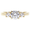0.82 ct. Round Cut 3 Stone Ring, E, VS2 #3