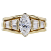 1.00 ct. Marquise Cut Bridal Set Ring, E, VS2 #3