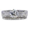 1.05 ct. Round Cut Bridal Set Ring, K, SI1 #3