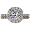 1.25 ct. Round Cut Bridal Set Ring, H, SI1 #4