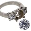 2.00 ct. Round Cut Bridal Set Ring #3