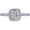 1.00 ct. Cushion Cut Halo Ring, F, VS2 #3