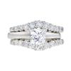 0.97 ct. Princess Cut Bridal Set Ring, I, SI1 #3