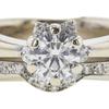 0.73 ct. Round Cut Bridal Set Ring, G, VS2 #4