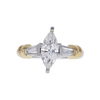 1.2 ct. Marquise Cut 3 Stone Ring, G, SI1 #3