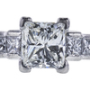 0.87 ct. Princess Cut 3 Stone Ring, H-I, VS2-SI1 #1