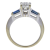 0.9 ct. Round Cut 3 Stone Ring, I, SI2 #4