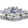 0.97 ct. Round Cut Bridal Set Ring, H, VVS2 #3