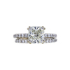 2.08 ct. Cushion Modified Cut Bridal Set Ring, K, SI1 #3