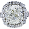 3.02 ct. Cushion Cut Halo Ring, L, SI1 #4