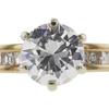 0.94 ct. Round Cut Bridal Set Ring, G, I1 #4