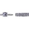 1.11 ct. Round Cut Bridal Set Ring, D, VVS2 #3