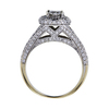 0.75 ct. Oval Cut Bridal Set Ring, G, SI2 #1