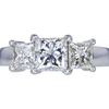 1.06 ct. Princess Cut 3 Stone Ring, G, VS2 #3