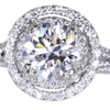 3.03 ct. Round Cut Halo Ring #3