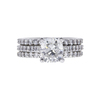 1.74 ct. Cushion Cut Bridal Set Ring, G, VS2 #3