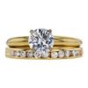 1.00 ct. Round Cut Bridal Set Ring, H, SI2 #3