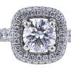 0.70 ct. Round Cut Bridal Set Ring, F, SI2 #4