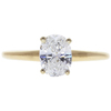 1.0 ct. Oval Cut Bridal Set Ring, E, I1 #4
