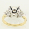 4.54 ct. Princess Cut 3 Stone Ring #4