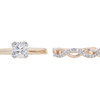 1.23 ct. Cushion Cut Bridal Set Ring, F, VS2 #3