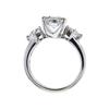 1.04 ct. Asscher Cut 3 Stone Ring #3
