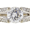 1.31 ct. Round Cut Solitaire Ring, E, I1 #4
