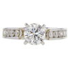 0.91 ct. Round Cut Solitaire Ring, H, I1 #3