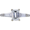 1.00 ct. Emerald Cut 3 Stone Ring #1