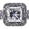 Art Deco GIA 0.80 ct. Princess Cut Bridal Set Ring, G, VVS1 #4