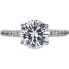 2.02 ct. Round Cut Bridal Set Ring, D, SI1 #3