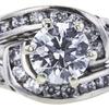 0.71 ct. Round Cut Bridal Set Ring, E, SI2 #4