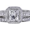 1.19 ct. Princess Cut Bridal Set Ring #3