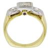 1.22 ct. Princess Cut 3 Stone Ring, I-J, I1 #2