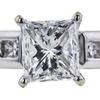1.37 ct. Princess Cut Ring, G-H, I1 #1