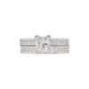 1.0 ct. Princess Cut Bridal Set Ring, K, SI1 #3
