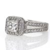 1 ct. Princess Cut Halo Ring #3