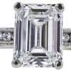 2.00 ct. Emerald Cut Bridal Set Ring, F, VS1 #4