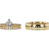 0.71 ct. Pear Cut Bridal Set Ring, H, VS2 #2