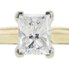 1.00 ct. Princess Cut Solitaire Ring, F, SI2 #4