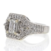 .93 ct. Emerald Cut Central Cluster Ring #1