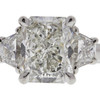 3.06 ct. Radiant Cut 3 Stone Ring, H, SI1 #1