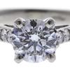 1.15 ct. Round Cut Bridal Set Ring, F, SI2 #4